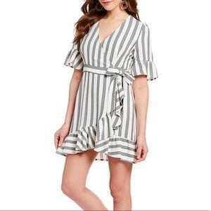 Revolve 1. State Regancy Striped Faux Wrap Dress